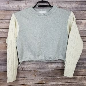 3.1 Phillip Lim Gray Cropped Pullover Sweater XS
